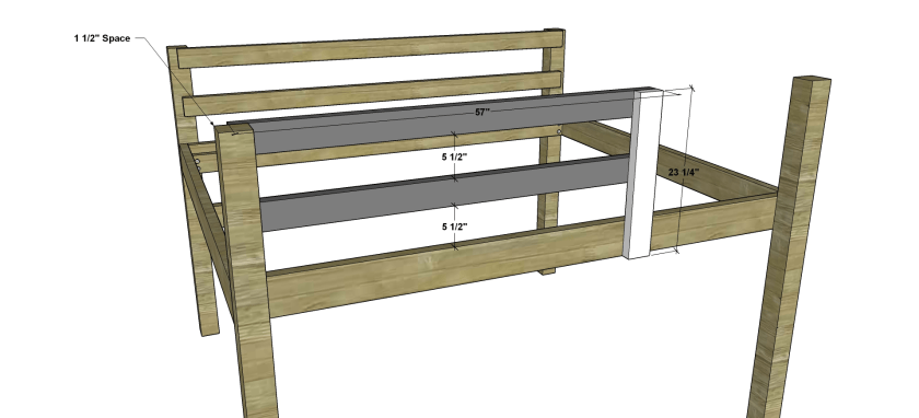 The Design Confidential Free DIY Furniture Plans to Build a Full Sized Low Loft Bunk