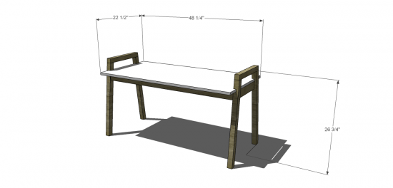 Dimensions for The Design Confidential Free DIY Furniture Plans: How to Build a Children's Two Tone Play Table