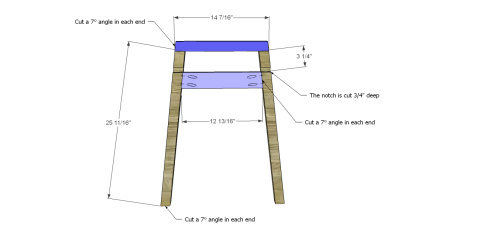 Table Legs for The Design Confidential Free DIY Furniture Plans: How to Build a Children's Two Tone Play Table