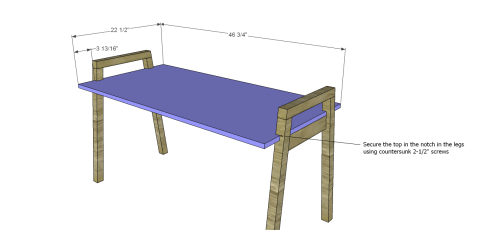 Table Top for The Design Confidential Free DIY Furniture Plans: How to Build a Children's Two Tone Play Table