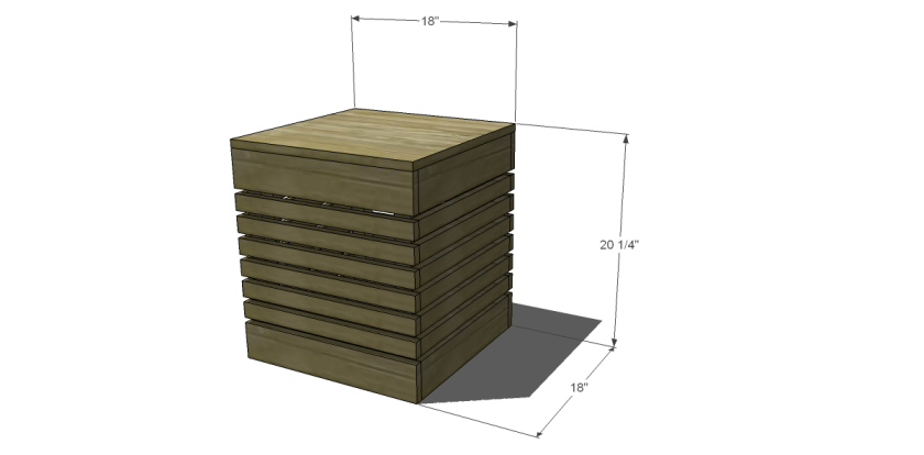 Dimensions for Free DIY Furniture Plans on How to Build a Nova Outdoor End Table