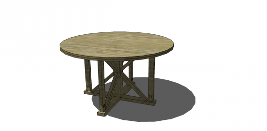 Free DIY Furniture Plans To Build An Indoor Outdoo Antigua Round Table.  Technically Inspired By An Outdoor Design, I Personally Think It Would Be  Smashing ...