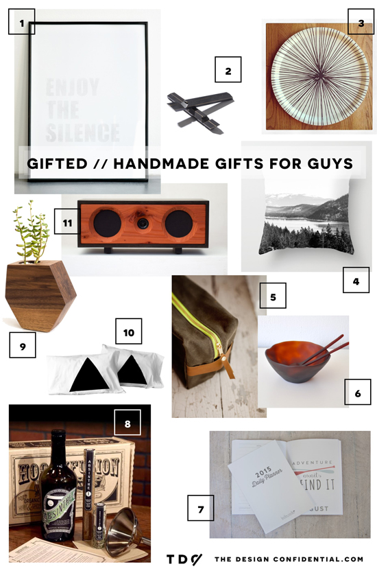 The Design Confidential Gifted // Handmade Gift Guide for the Guys