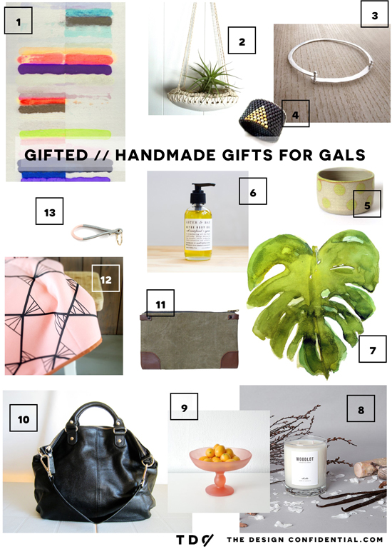Gifted // Handmade Gift Guide for the Gals