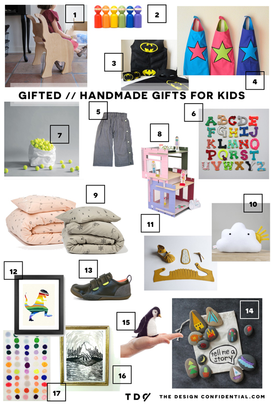 The Design Confidential Gifted // Handmade Gift Guide for the Kids