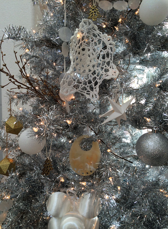 The Design Confidential Happy Holidays // My Silver Christmas Tree + Unique Easy DIY Ornaments