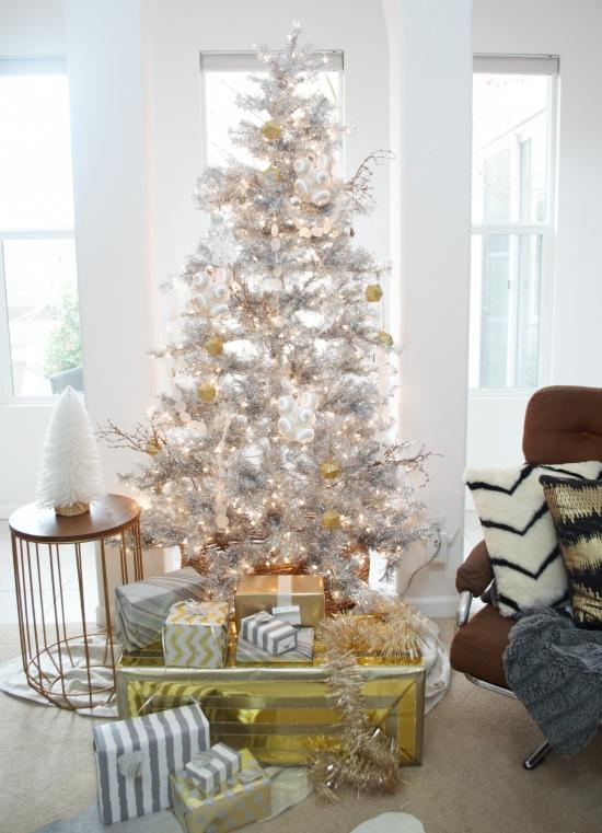 The Design Confidential Happy Holidays // My Silver Christmas Tree + Unique Easy DIY Ornaments