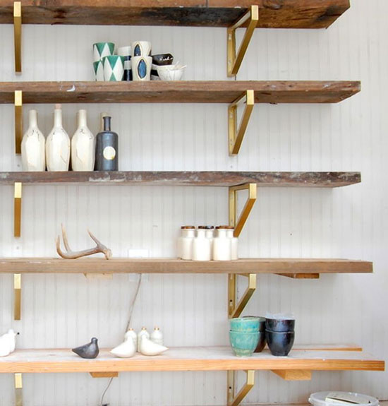 Gold Bracket Ikea Hack Shelving for The Design Confidential On Display // 5 Stylish Storage Solutions You Can Totally DIY