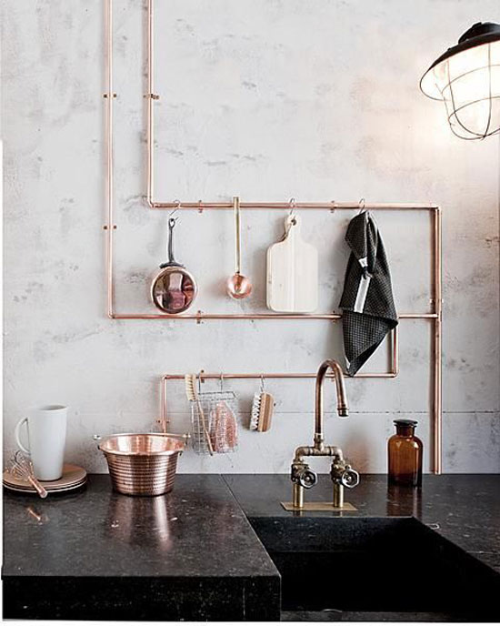 Superbe Copper Pipe Shelving For The Design Confidential On Display // 5 Stylish  Storage Solutions You