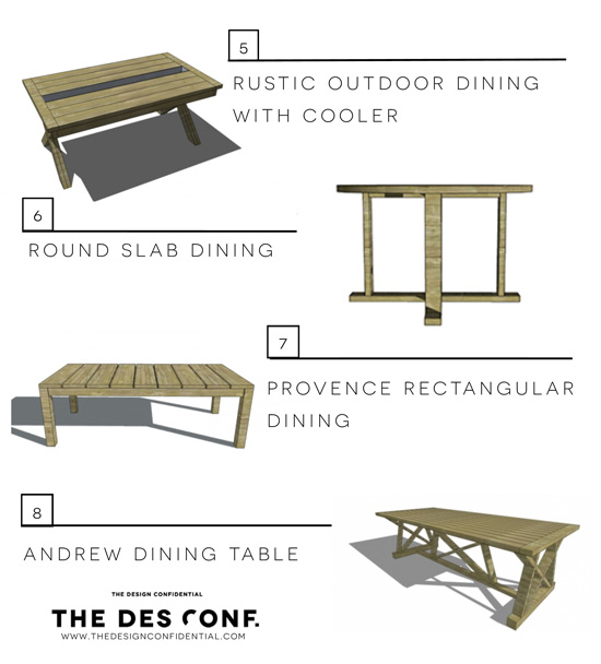 New The Design Confidential us Entertaining In Style Top Most Popular DIY Outdoor Dining Tables