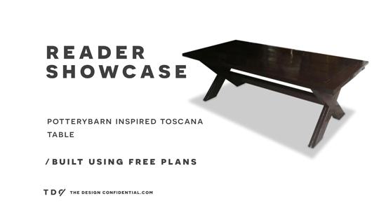 The Design Confidential Reader Showcase // Pottery Barn inspired Toscana Table