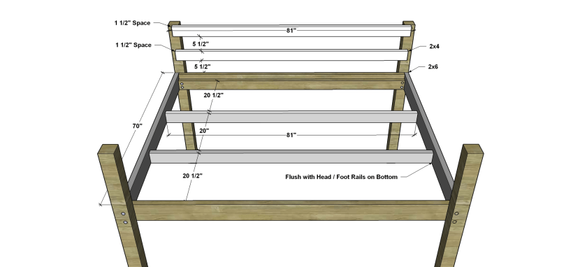 The Design Confidential Free DIY Furniture Plans to Build a Queen Sized Low Loft Bunk