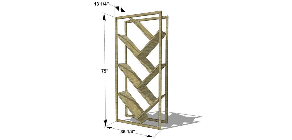 DIY Furniture Plans How to Build a V Bookshelf Room Divider The