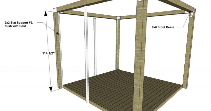 You Can Build This! The Design Confidential DIY Furniture Plans // How to Build a Staycation Pergola via @TheDesConf