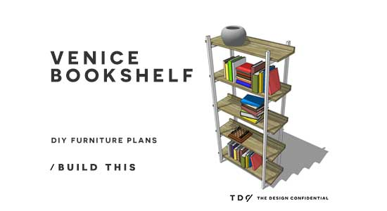 You Can Build This! Free Furniture Plans from The Design Confidential to Build a Venice Bookshelf