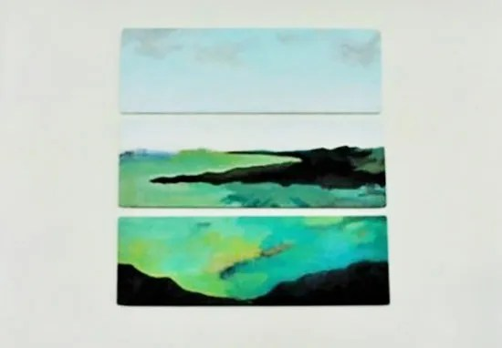 The Design Confidential / How To Make an Easy Abstract Landscape Painting