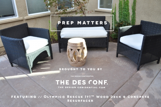 The Design Confidential Patio Rescue and Resurface Project