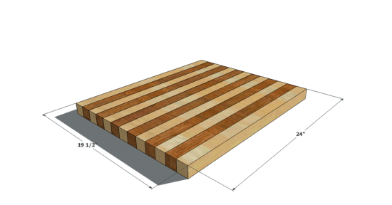 This Plan Will Give You An Oversized Cutting Board That Would Even Make  Martha Stewart Proud! Provided For Are Options For Both Striped And  Checkerboard ...