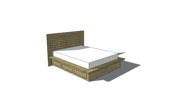 Amazing Free Woodworking Plans to Build a Viva Terra Inspired Vintage Fir Platform Bed with Storage in