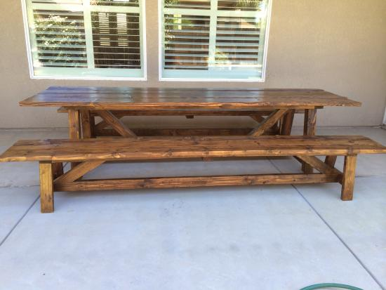 Reader Showcase 10 Foot Provence Beam Dining Table With Benches
