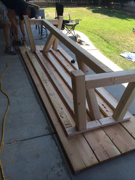 Progress Shot of Real Reader Build on The Design Confidential / Provence Beam Dining and Provence Benches