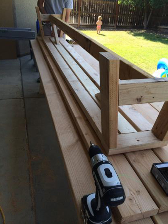 In Progress for Real Reader Build on The Design Confidential / Provence Beam Dining and Provence Benches