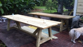 Builders Showcase   Kens Double Set of Provence Beam Dining TablesFree DIY Furniture Plans to Build a Restoration Hardware Inspired  . Outdoor Dining Table Plans Free. Home Design Ideas