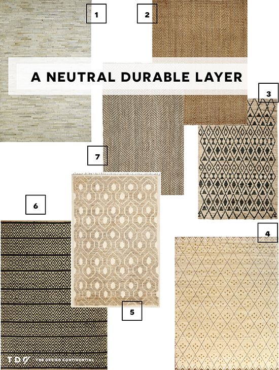 Options for A Neutral Durable Rug Layer