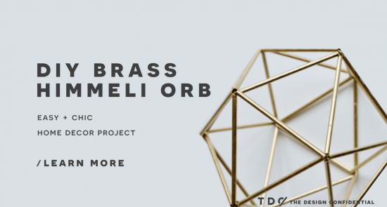 The Design Confidential Handmade Decor: DIY Faux Brass Himmeli Orb