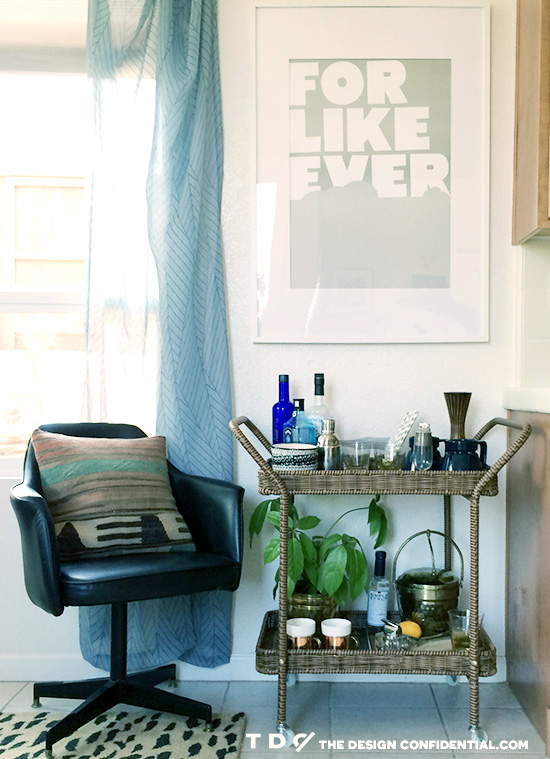 Design Moments in my Kitchen Nook with my Indoor Outdoor Bar Cart