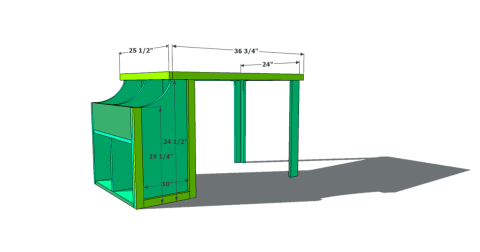 Step 5 for Free Woodworking Plans to Build an Ann Marie Toddler Storage Cubby Desk