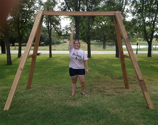 Finished Swingset Frame for Reader Showcase // A Swingset for Two