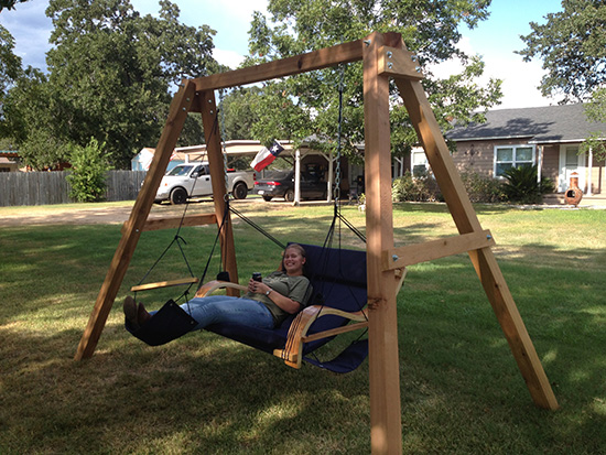 Enjoying the Swing in Reader Showcase // A Swingset for Two