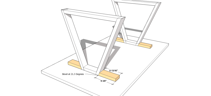 You Can Build This! Easy DIY Plans from The Design Confidential with Complete Instructions on How to Build a Tri Trestle Dining Table via @thedesconf