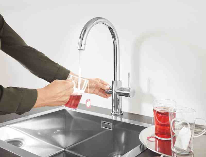 Kitchen design trends - Kettle hot water tap by Grohe