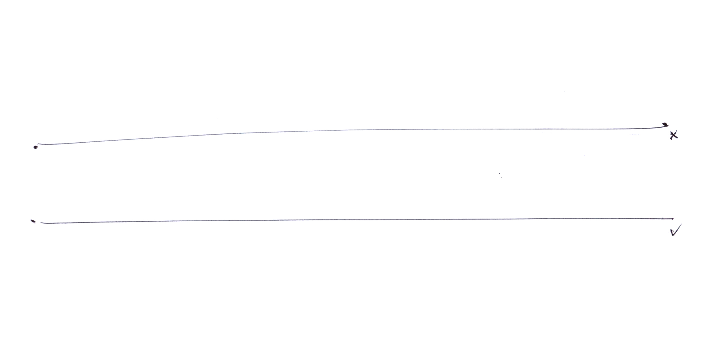 25cm straight lines without ruler