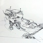 Get a nice Urban sketching spot at the right time |TIP55