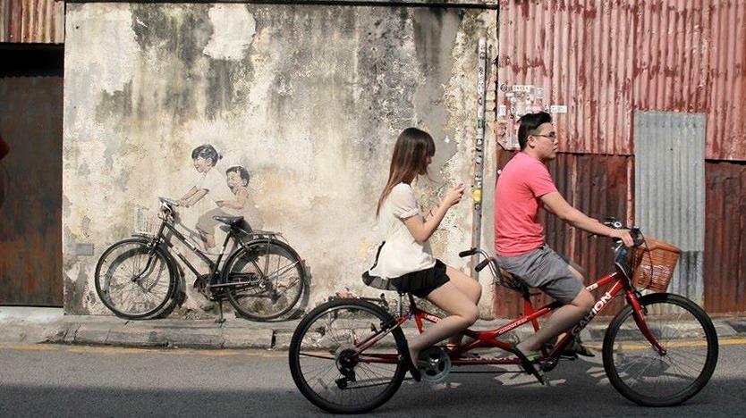 Cycling at Penang - Street Art