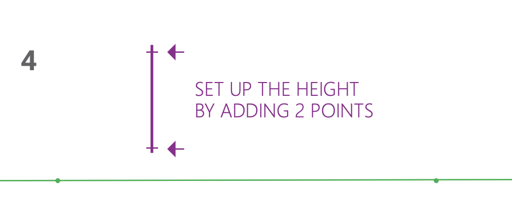 how to draw a cube 2-point perspective - Step 4 set up height