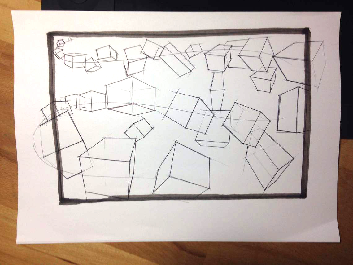 Leonardo Penaranda Cubes Sketch like the pros The Design sketchbook