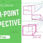 How to draw a cube with 1-point perspective easy| TIP 154 | VIDEO