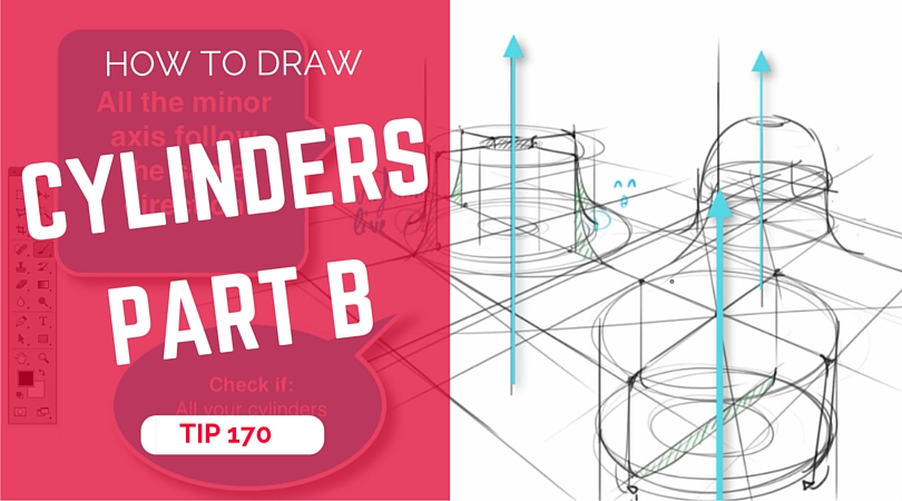 How to draw multiple cylinders in perspective |Part B