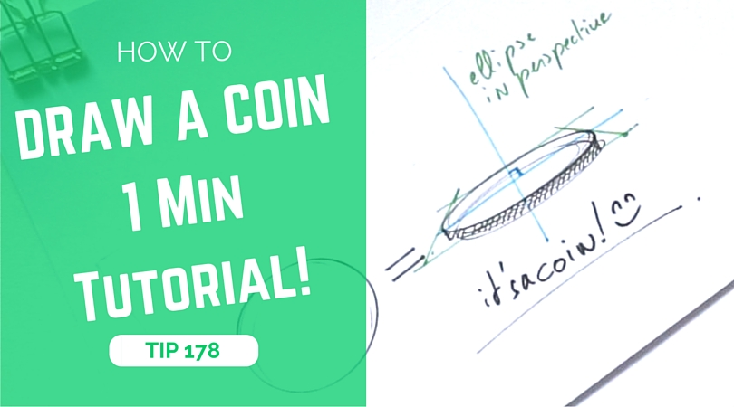 How to draw a coin? | The 1minute tutorial!