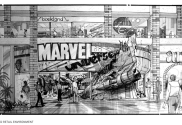 Marvel retail store drawing - Edward Eyth