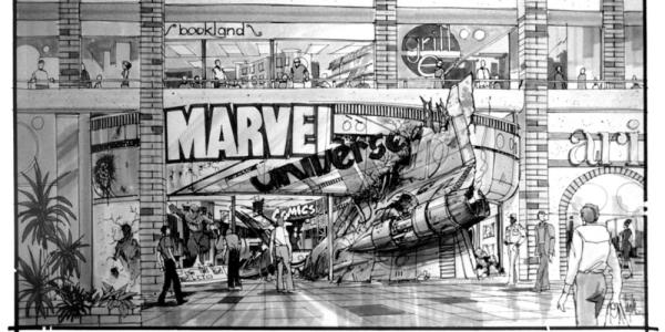 Marvel retail store drawing - Edward Eyth