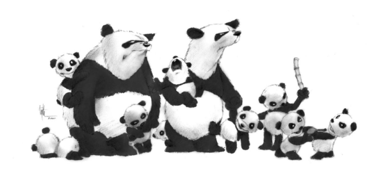 Edward Eyth Design sketching Panda sketching family