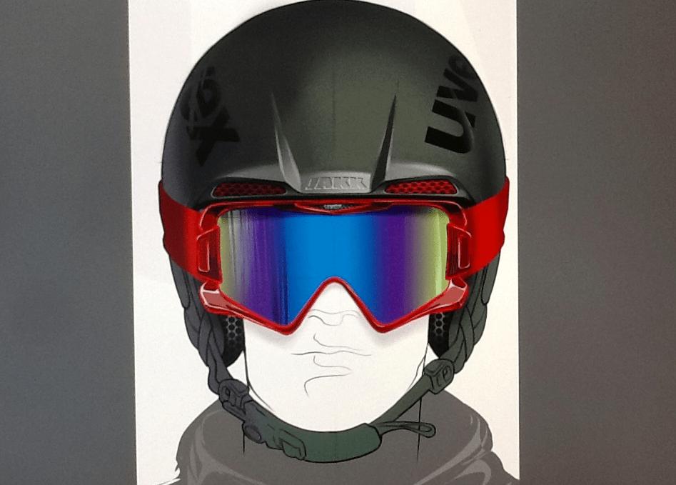 Noah Sussman Sports Product designer Uvex helmet rendering