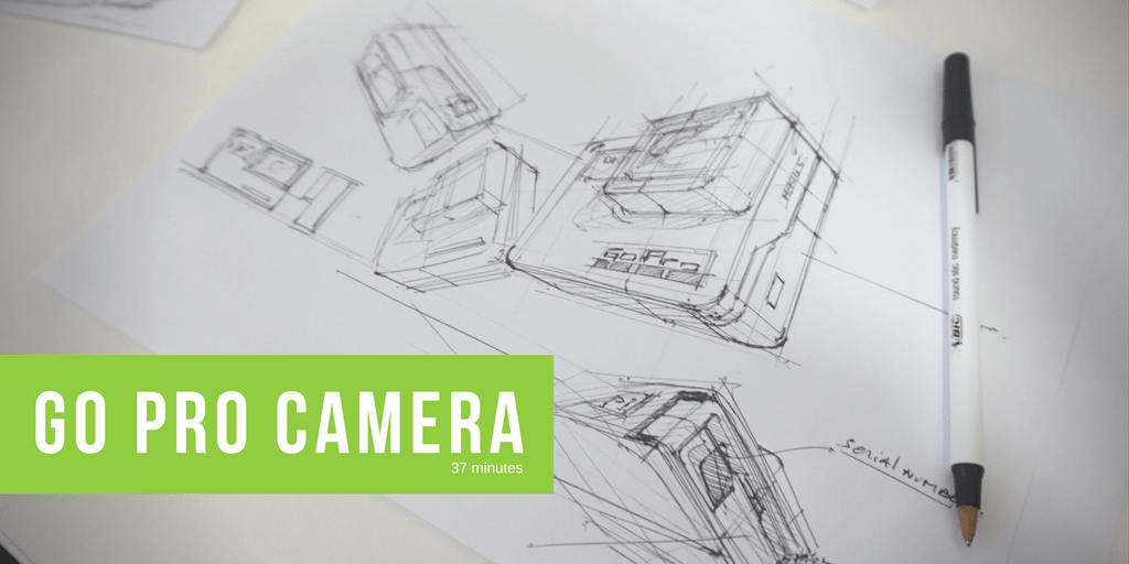 How to draw a Go Pro Hero 5 Camera Tip 211