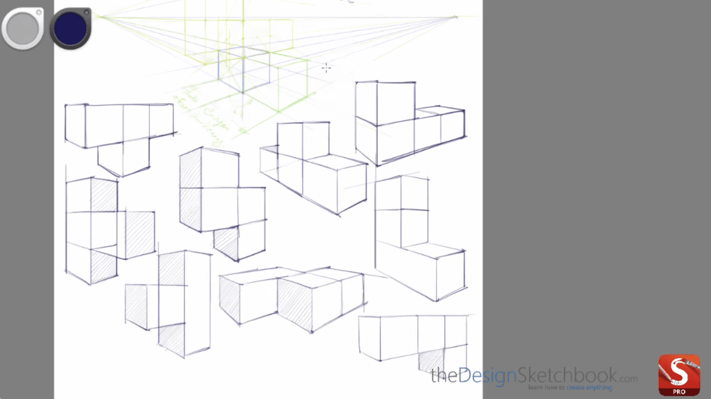Create an infinity of Tetris style cubes in perspective