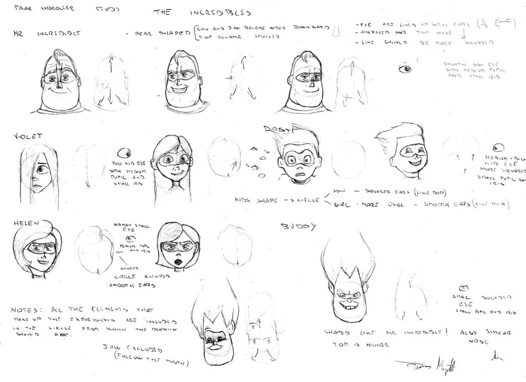 pixar_character_studio__the_incredibles_by_margud-d9jgfwo